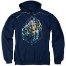 Aquaman Hoodie Thrashing Navy Sweatshirt Hoody