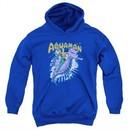 Aquaman Kids Hoodie Ride Free Royal Blue Youth Hoody