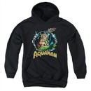 Aquaman Kids Hoodie Ruler Of The Seas Black Youth Hoody