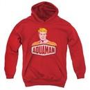 Aquaman Kids Hoodie Sign Red Youth Hoody