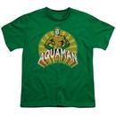 Aquaman Kids Shirt Hands On Hips Kelly Green T-Shirt