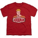 Aquaman Kids Shirt Sign Red T-Shirt