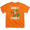 Aquaman Kids Shirt Swim It Orange T-Shirt