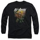 Aquaman Long Sleeve Shirt Beach Sunset Black Tee T-Shirt