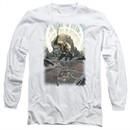 Aquaman Long Sleeve Shirt Reflection White Tee T-Shirt