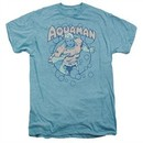 Aquaman Shirt Bubbles Sky Heather Premium T-Shirt