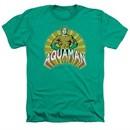 Aquaman Shirt Hands On Hips Heather Kelly Green T-Shirt