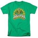 Aquaman Shirt Hands On Hips Kelly Green T-Shirt