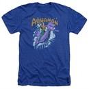 Aquaman Shirt Ride Free Heather Royal Blue T-Shirt