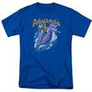 Aquaman Shirt Ride Free Royal Blue T-Shirt