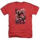 Aquaman Shirt Stabbed Heather Red T-Shirt