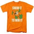 Aquaman Shirt Swim It Orange T-Shirt