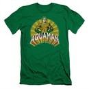 Aquaman Slim Fit Shirt Hands On Hips Kelly Green T-Shirt