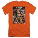 Aquaman Slim Fit Shirt King Of Atlantis Orange T-Shirt