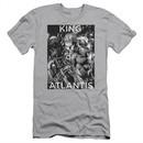Aquaman Slim Fit Shirt King Of Atlantis Silver T-Shirt