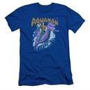 Aquaman Slim Fit Shirt Ride Free Royal Blue T-Shirt