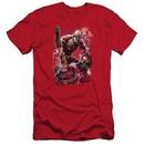 Aquaman Slim Fit Shirt Stabbed Red T-Shirt