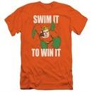 Aquaman Slim Fit Shirt Swim It Orange T-Shirt