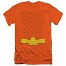 Aquaman Slim Fit Shirt Uniform Orange T-Shirt