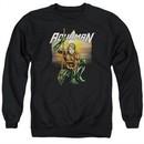 Aquaman Sweatshirt Beach Sunset Adult Black Sweat Shirt