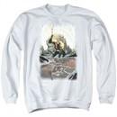 Aquaman Sweatshirt Reflection Adult White Sweat Shirt