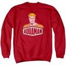 Aquaman Sweatshirt Sign Adult Red Sweat Shirt