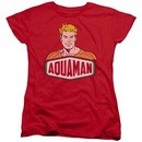 Aquaman Womens Shirt Sign Red T-Shirt