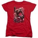 Aquaman Womens Shirt Stabbed Red T-Shirt