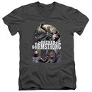 Archer & Armstrong Slim Fit V-Neck Shirt Dropping In Charcoal T-Shirt