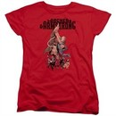 Archer & Armstrong Womens Shirt Hang On Red T-Shirt