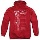 Astro Boy Hoodie Schematics Red Sweatshirt Hoody