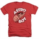 Astro Boy Shirt Flying Heather Red T-Shirt