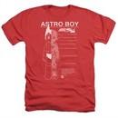Astro Boy Shirt Schematics Heather Red T-Shirt