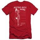 Astro Boy Slim Fit Shirt Schematics Red T-Shirt