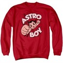 Astro Boy Sweatshirt Flying Adult Red Sweat Shirt