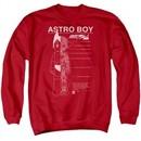 Astro Boy Sweatshirt Schematics Adult Red Sweat Shirt