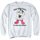 Astro Boy Sweatshirt Who Needs Pants Adult White Sweat Shirt