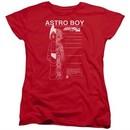Astro Boy Womens Shirt Schematics Red T-Shirt
