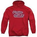 Atari Hoodie Crystal Castles Logo Red Sweatshirt Hoody