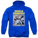 Atari Hoodie Missile Commander Royal Blue Sweatshirt Hoody