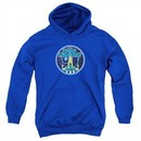 Atari Kids Hoodie Star Raiders Badge Royal Blue Youth Hoody
