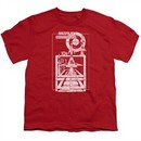 Atari Kids Shirt Lift Off Red T-Shirt