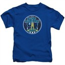 Atari Kids Shirt Star Raiders Badge Royal Blue T-Shirt