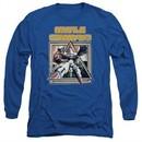 Atari Long Sleeve Shirt Missile Commander Royal Blue Tee T-Shirt