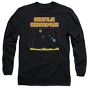 Atari Long Sleeve Shirt Missile Screen Black Tee T-Shirt