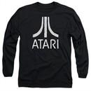 Atari Long Sleeve Shirt Rough Logo Black Tee T-Shirt