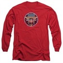 Atari Long Sleeve Shirt Yars Revenge Patch Red Tee T-Shirt