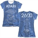 Atari Shirt Inside Out Poly/Cotton Sublimation Juniors T-Shirt Front/Back Print