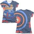Atari Shirt Lunar Landing Poly/Cotton Sublimation Juniors T-Shirt Front/Back Print