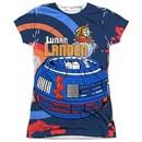 Atari Shirt Lunar Landing Sublimation Juniors T-Shirt